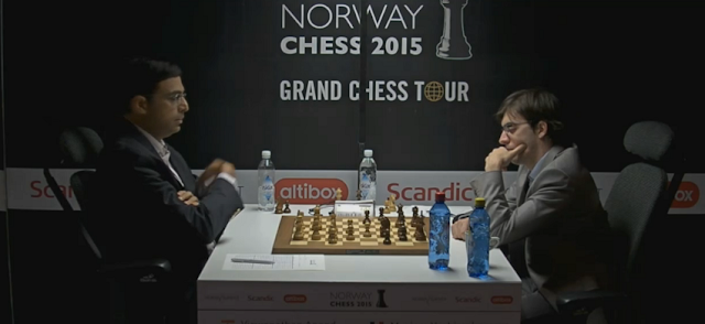 Norway Chess 2015. Vishy Anand - Maxime Vachier-Lagrave