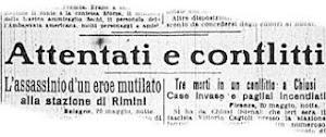 """""""CORRIERE DELLA SERA"""" DEL 21 MAGGIO 1921"""