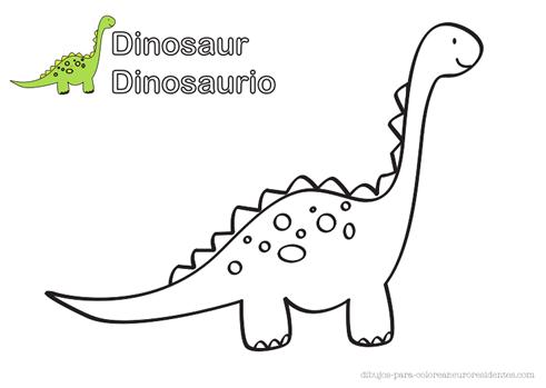 Dibujos para Colorear: Dinosaurio para colorear