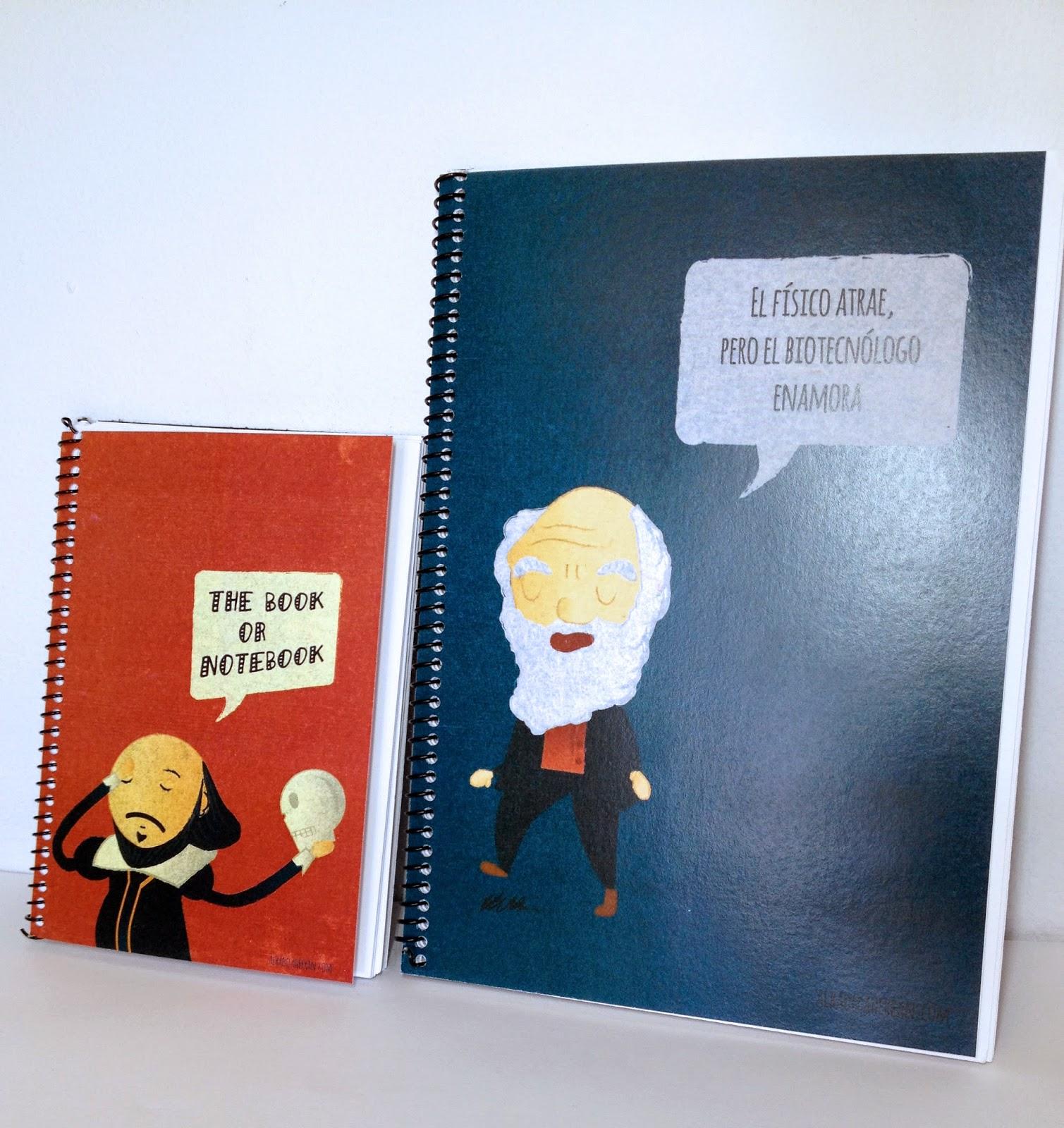 Libreta A5 Darwin y A6 de Shakespeare