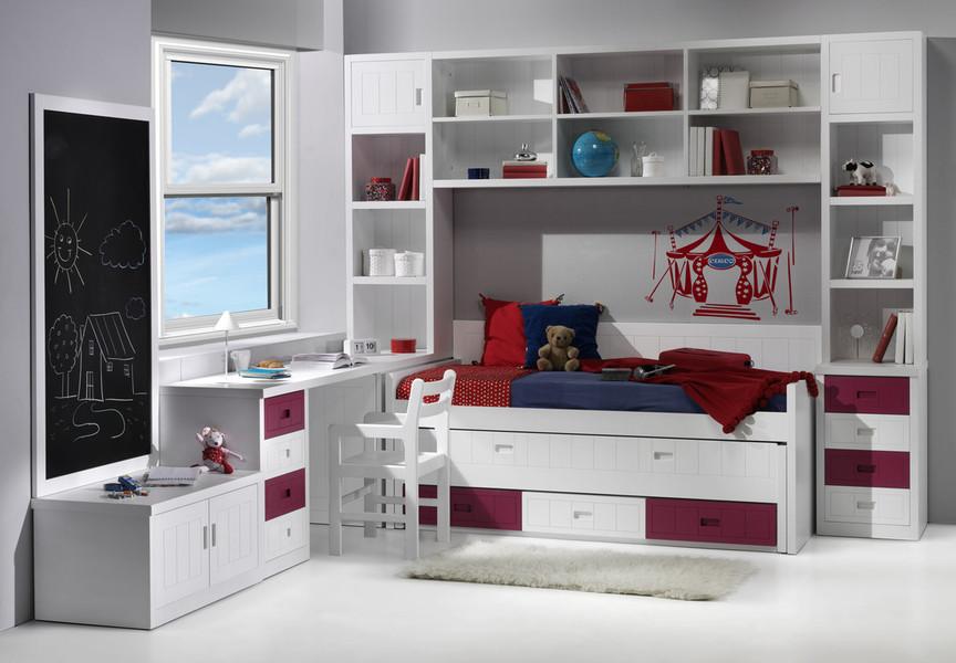 Dormitorio juvenil para dos - Habitaciones de dos camas ...
