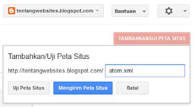 cara mengirim peta situs