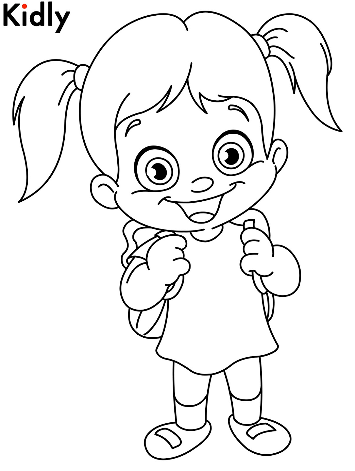 Mewarnai Gambar Gadis Kecil