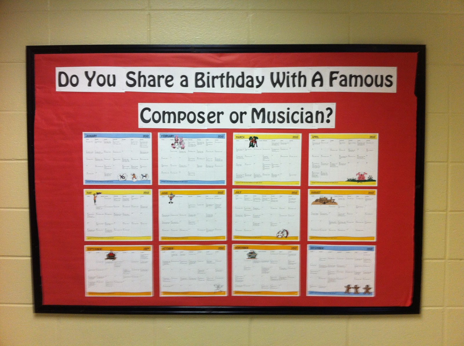 Music Classroom Decoration : Learn me music bulletin board composer and