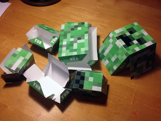 Minecraft papercraft creeper template
