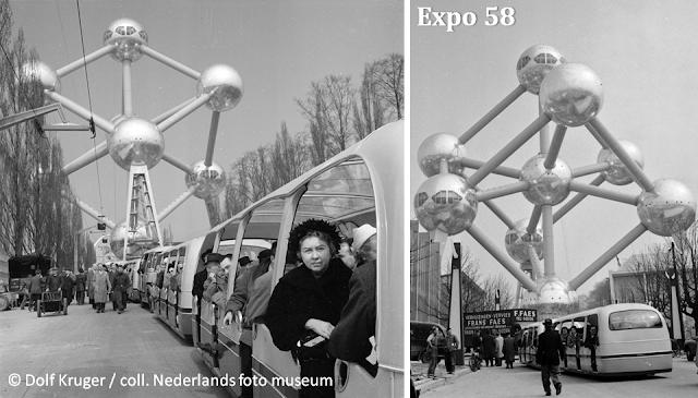 Plateau du Heysel - Bruxelles - Le petit train de l'Exposition universelle de 1958 - Bruxelles-Bruxellons