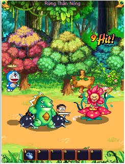 Doi quan ma quy trong game Doremon