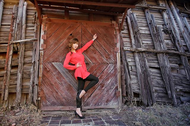 5 Nam Eun Ju in Red-very cute asian girl-girlcute4u.blogspot.com