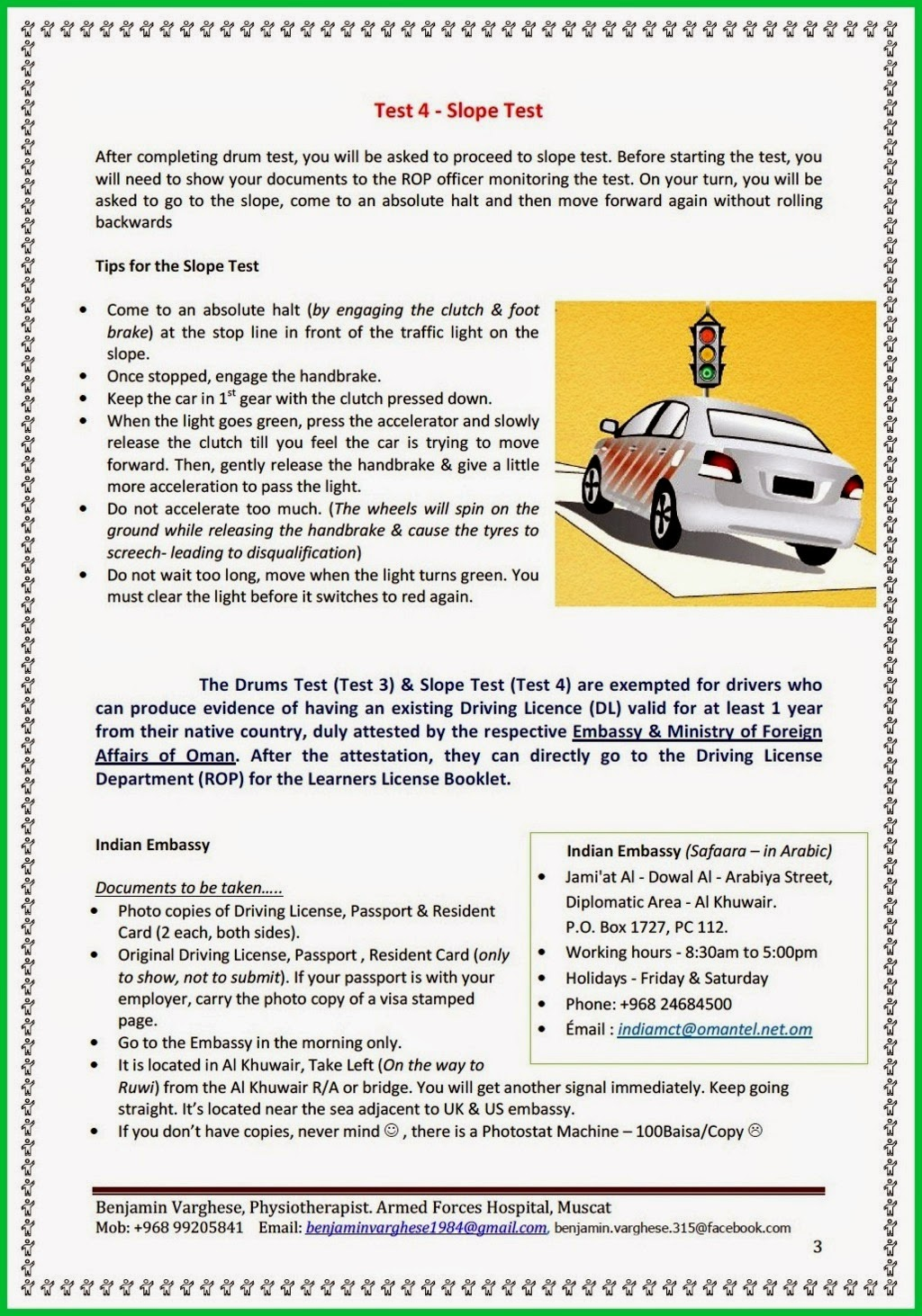 Oman Driving License Some Tips For Beginners | Autos Post