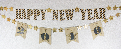 diy happy new year banner