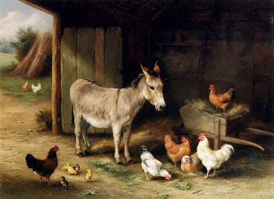 http://3.bp.blogspot.com/-5atgkZI4QeM/UPqIlSzubGI/AAAAAAAAPLw/e2Ype5aOPkk/s1600/reproduction_painting_England_Hunt,+Edgar++1870+-+1955_Donkey,+Hens+and+Chickens+in+a+Barn.jpg