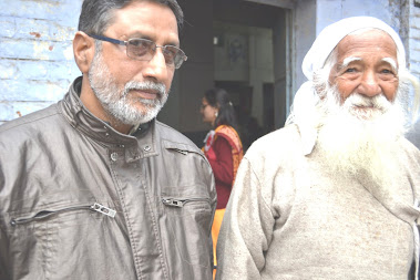 Rajen Todariya with Eminent Chipko Leader Sunder Lal Bahuguna