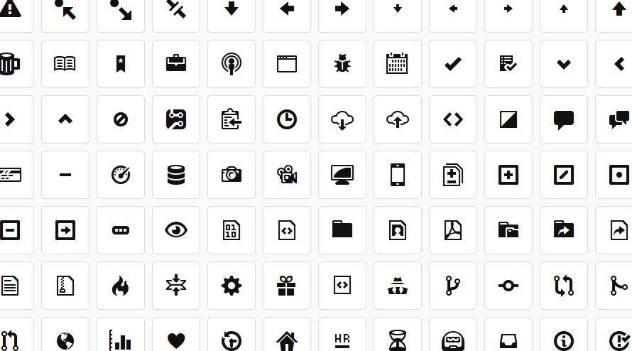 Github icons - Octicons