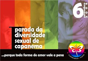 Postal da I Parada da Diversidade Sexual de Capanema
