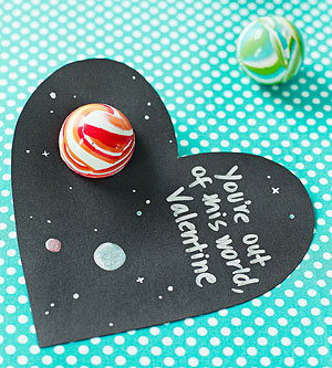 non candy Valentines space ball