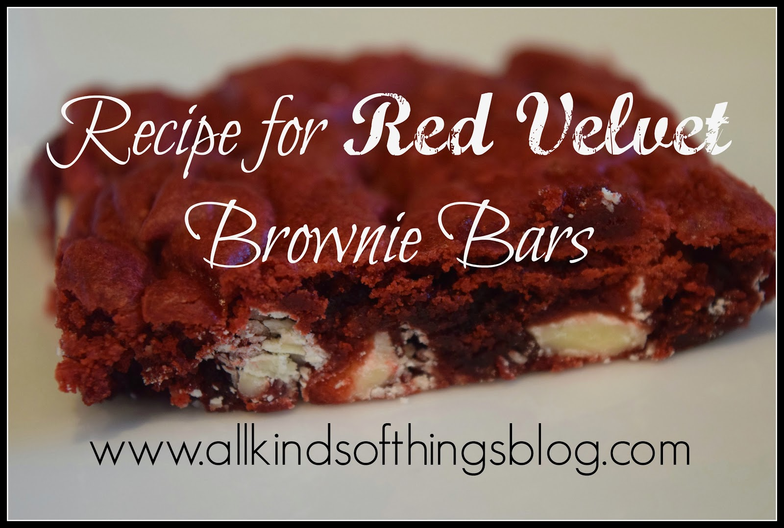 Recipe for Red Velvet Brownie Bars