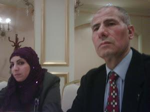 الاستاذة امينة معدة برنامج اذاعي مع رئيس حزب الاستقلال