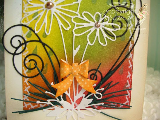 daisies fall card detail