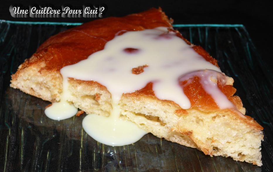 Une cuill re pour qui tarte brioch e au lait concentr sucr - Congeler de la creme fraiche ...