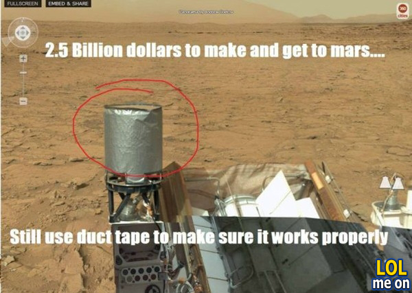 2.5 billion dollars to make and get to mars ...