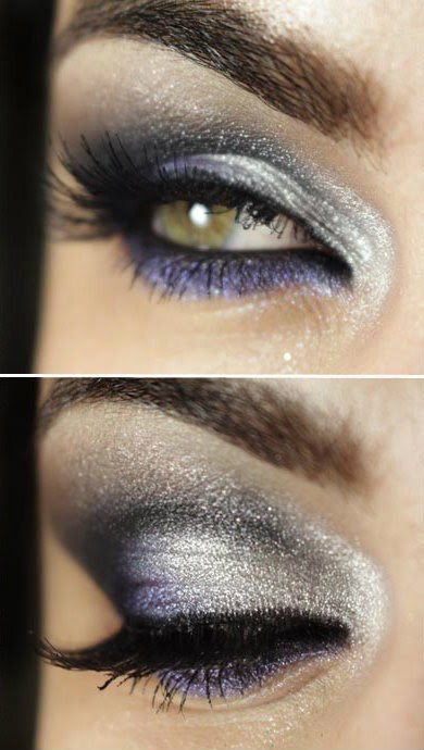 Make ultra metal that combines silver, black, gray and violet.
