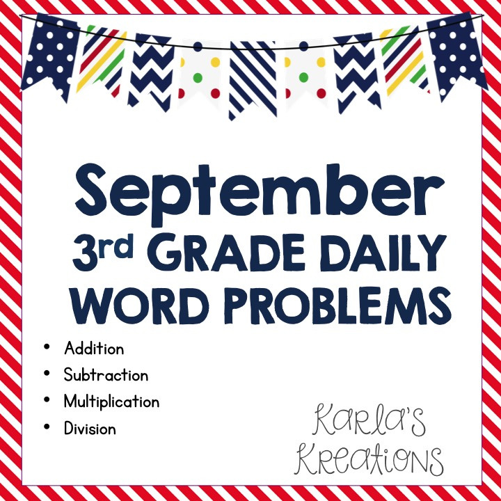 Cgi Word Problems 3rd Grade