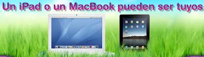 premios MacBook, un Ipad con Wi-Fi de 16GB promocion Bico Mexico 2011