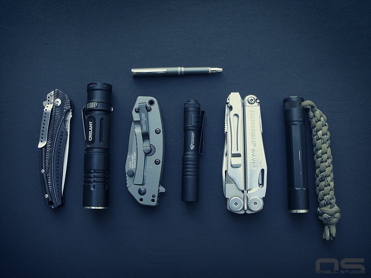 budget EDC lights and folding knives
