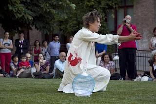 Heart performance, Gracia Iglesias, Freiraum Art Simposium, Escuela de Cerámica de Madrid
