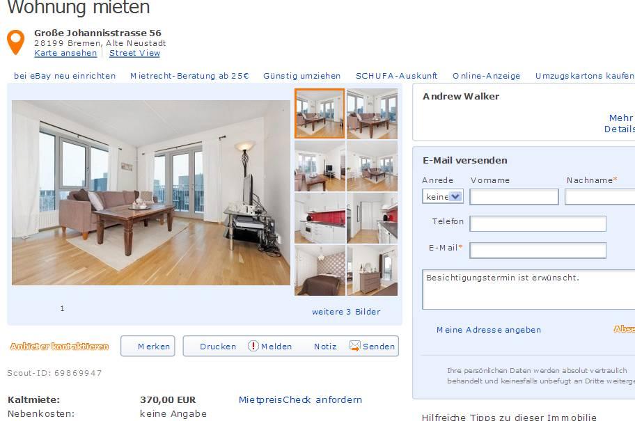 ... Laminatboden U2013 Wohn /Esszimmer, Küche, Großes Schlafzimmer, U2013  Geräumiges Bad Mit Badewanne Und Außenfenster, U2013 Neuer Laminatfußboden ...