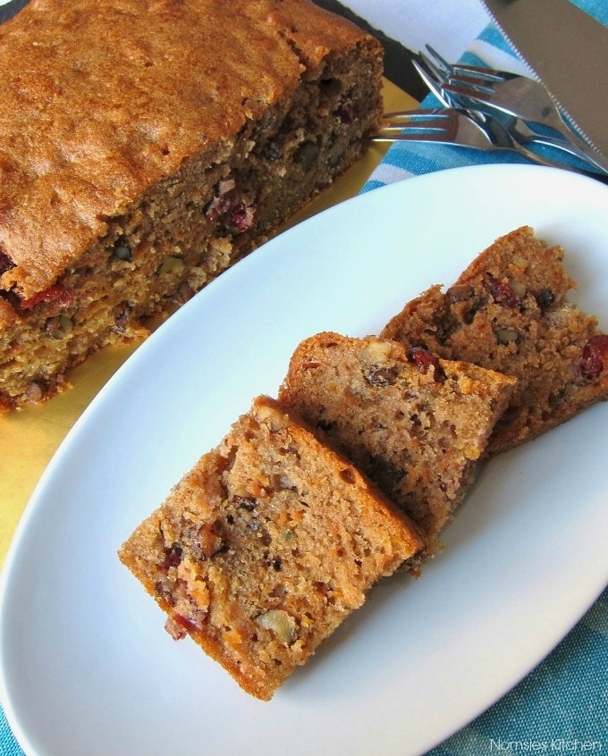 Recipe for Carrot Cranberry & Walnut Cake | Nomsies Kitchen