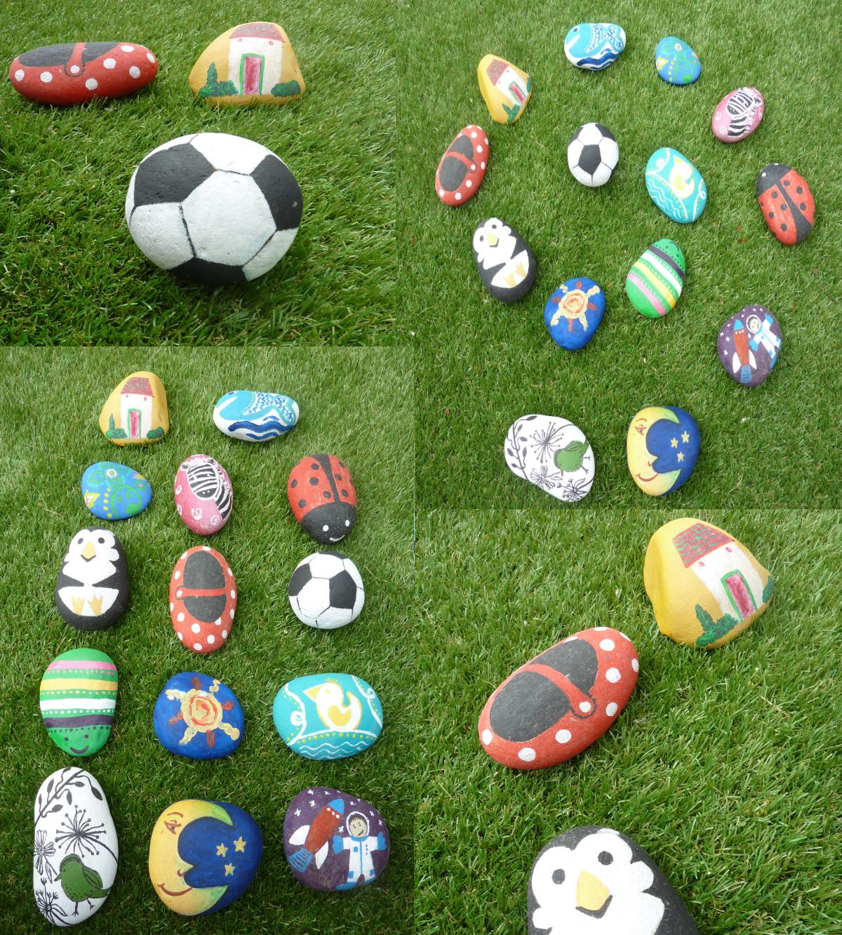 watermarycolors piedras decoradas