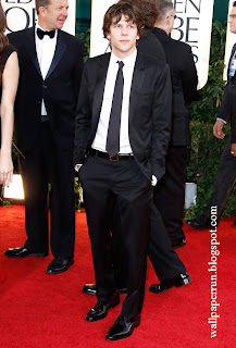 Jesse Eisenberg attends the 68th Annual Golden Globe Awards in Beverly Hills, CA on January 16, 2011