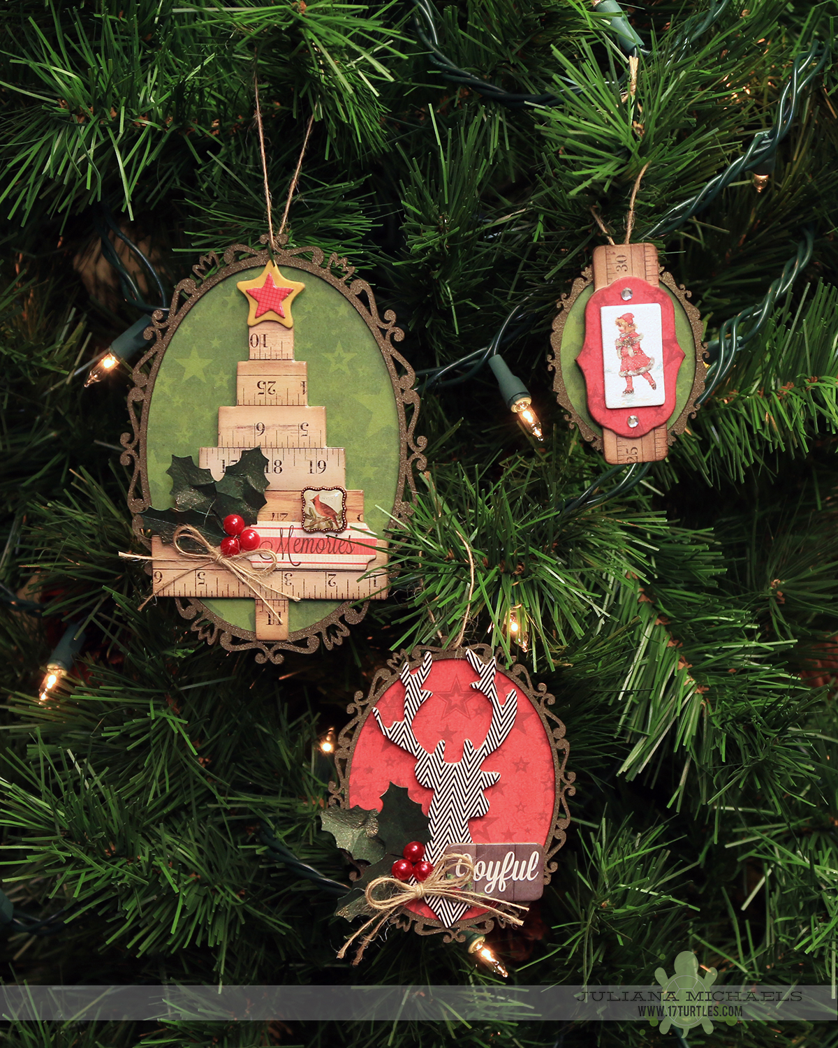 Handmade Christmas Ornaments | BoBunny & Leaky Shed Studio