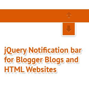 Add Simple jQuery sticky Bar To Blogger