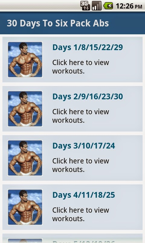 How to get a six pack in 30 days