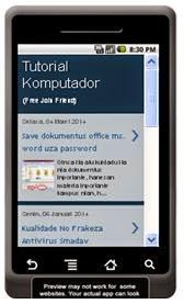 Pasang Aplikasi Blog Iha HP
