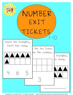 https://www.teacherspayteachers.com/Product/Numbers-1-10-Exit-Tickets-2178340
