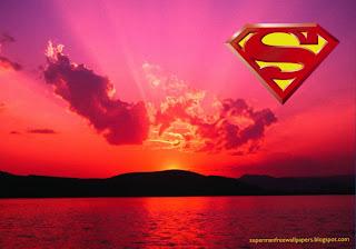 Superman free wallpapers Superman Logo posters. Superman Desktop Logo in Sunset Nights background