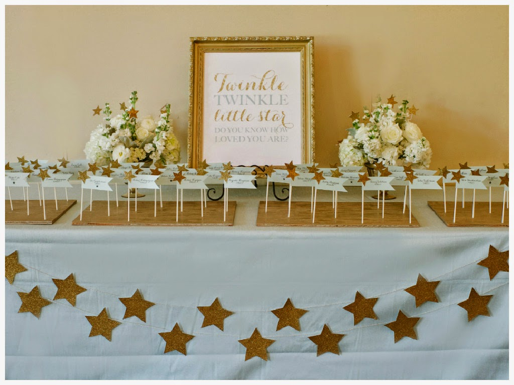 Blue And Gold Baby Shower Decorations Simple Little Details Event Design Twinkle Twinkle Little Star