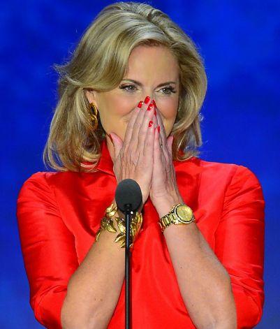 Ann Romney durante discurso em Tampa, na Flórida (Foto: Evan Vucci/AP Photo)
