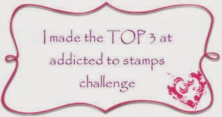"TOP 3 at ADDICTED TO STAMP CHALLENGE #97 ""LOTS OF LAYERS"""