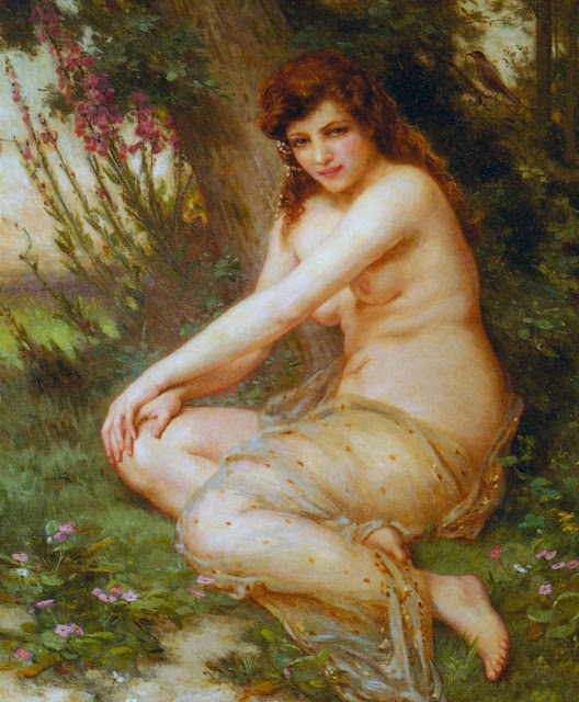 Guillaume Seignac,Nymph,classical painting