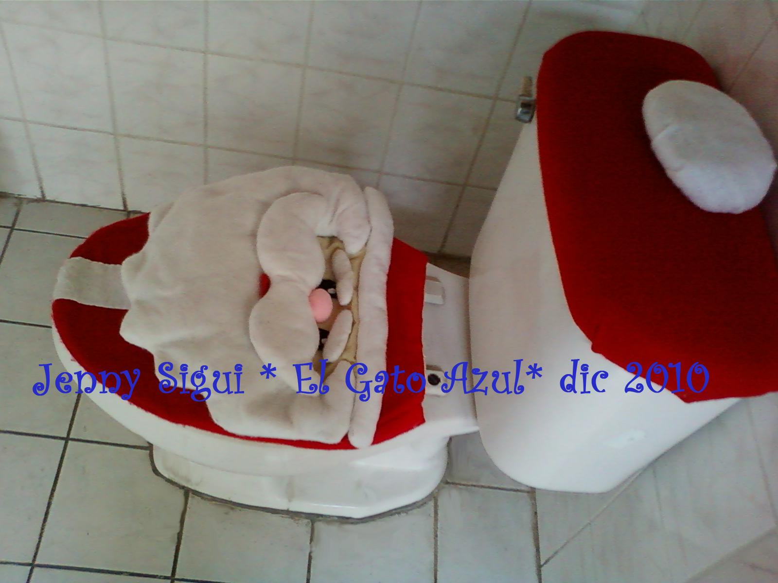 Navidad en Fieltro , Cobertor para Baño Santa Claus