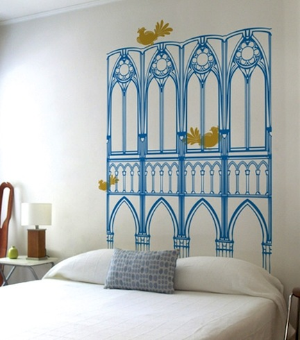 Last london lady headboard inspiration for Mural headboard
