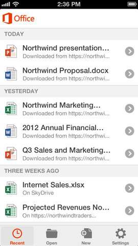 Office 365  in iphone5 .2