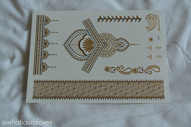 HennaBK Metallic Tattoos- Signature Henna Designs Review