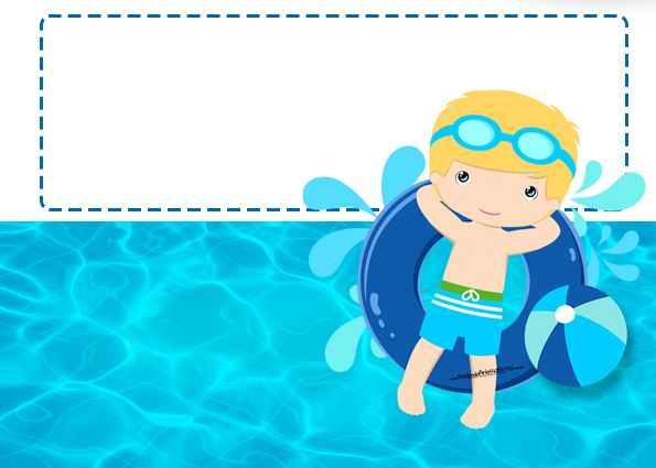 Blondie Boy Pool Party: Free Printable Invitations. | Is It For