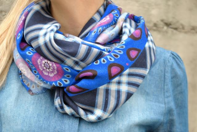 sciarpa fattori sciarpa stampa check sciarpa in cachemire come abbinare una sciarpa in cachemire abbinamenti sciarpa stampa check mariafelicia magno fashion blogger fattori abbigliamento fattori scarf fattori scarves fashion bloggers italy