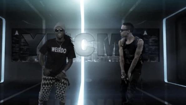 Foto do Lil Wayne no clipe Sweat